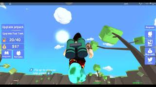 FLYING TO EARTH!! Roblox Jet pack Simulator