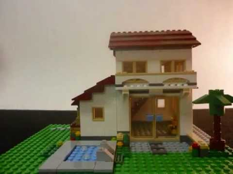 LEGO Creator 31012 Family House part 2 Stop Motion Build