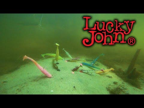 Силикон Lucky John, игра приманок под водой. Часть 1 ВИБРОХВОСТЫ