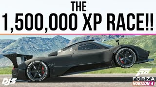 Forza Horizon 4 - THE 1,500,000 XP RACE!! - Pagani Zonda R Forza Edition VS Goliath!!