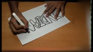 """How to write """"INDIAN"""" in Graffiti"""