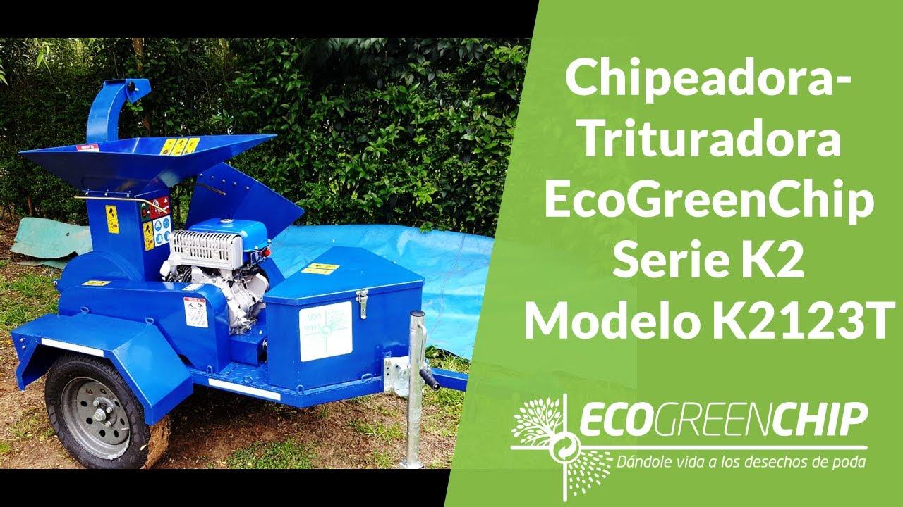Chipeadora Urbana ecoGreenChip K2123T - gestión de residuos de poda urbana eficiente a bajo costo