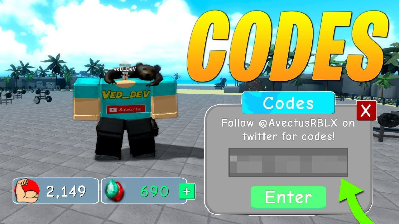 3 New Codes In Weight Lifting Simulator 3 Roblox Youtube