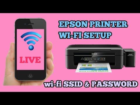 Epson printer wi-fi setup || SSID & PASSWORD