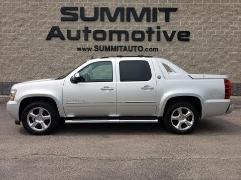2013 CHEVROLET AVALANCHE CREW LTZ BLACK DIAMOND SILVER REVIEW WALK AROUND SOLD! 8J500A
