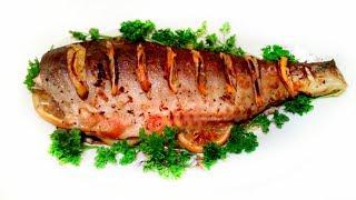 Горбуша, запеченная в духовке целиком! Вкусно и полезно!