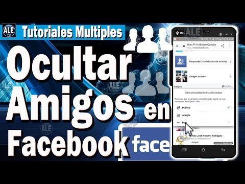Como Ocultar Lista De Amigos En Facebook desde celular | Poner Privado A Mis Amigos