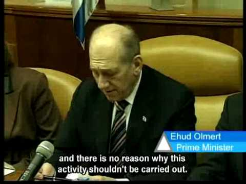 Prime Miniter Olmert comments on the Temple Mount riots