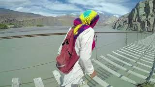 I almost died inside at HUSSAINI Suspension Bridge - day 6
