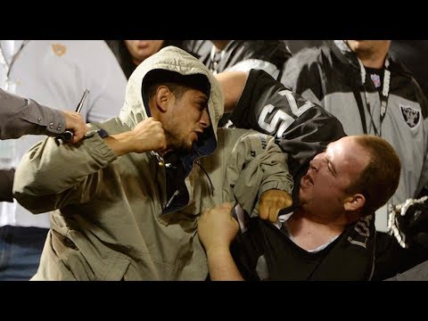 See Raiders Fans BRAWL with Each Other After Jets Game!