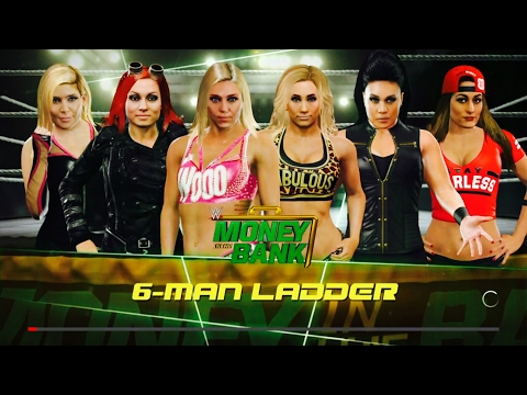 WWE 2K17 Money In The Bank 2017 Womens Ladder Match Simulation