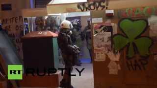Протесты в Афинах вылились в столкновения с полицией