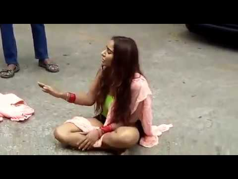 Sri Reddy protest at film chamber | sri reddy nude protest thumbnail