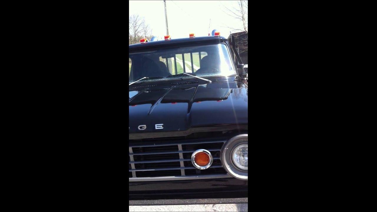 1966 Dodge D300 On 1 Ton Cummins Youtube