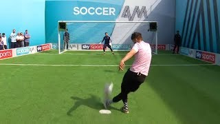 Serge Pizzorno attempts rabona penalty to win £400! | Soccer AM Pro AM