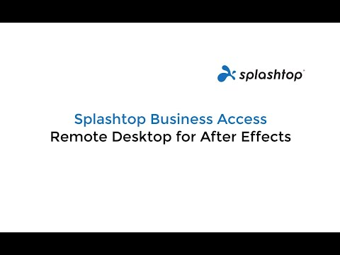 Using Remote Desktop for Adobe After Effects