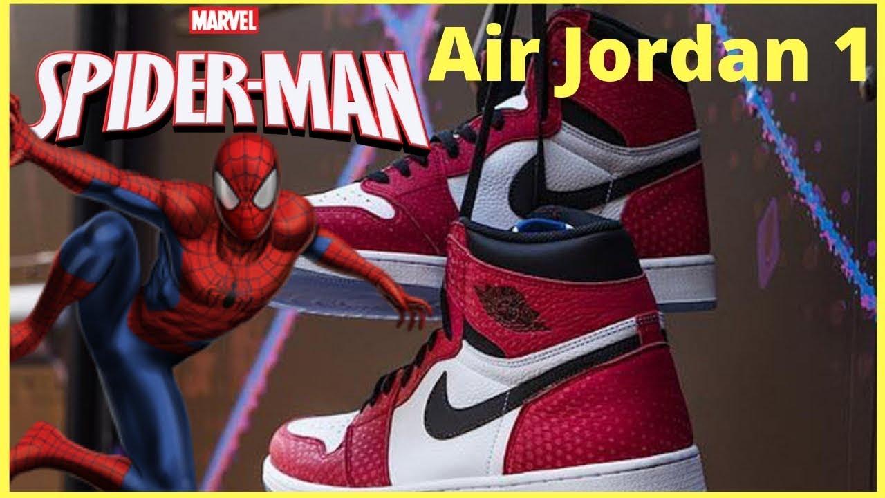 "abe0d14d0e36e8 The Spider verse Inspired Air Jordan 1 Retro High OG ""Origin Story ..."