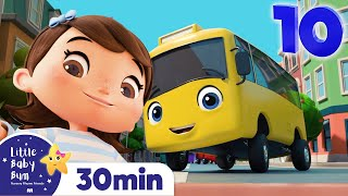 10 Little Buses - Bus Song for Kids | Nursery Rhymes and Baby Songs | Kids Songs | Little Baby Bum