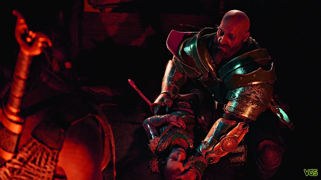 God of War - Terrified Kratos as Atreus Becomes Sick