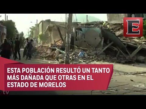 Jojutla, Morelos, amanece derruido por el temblor de 7.1 grados