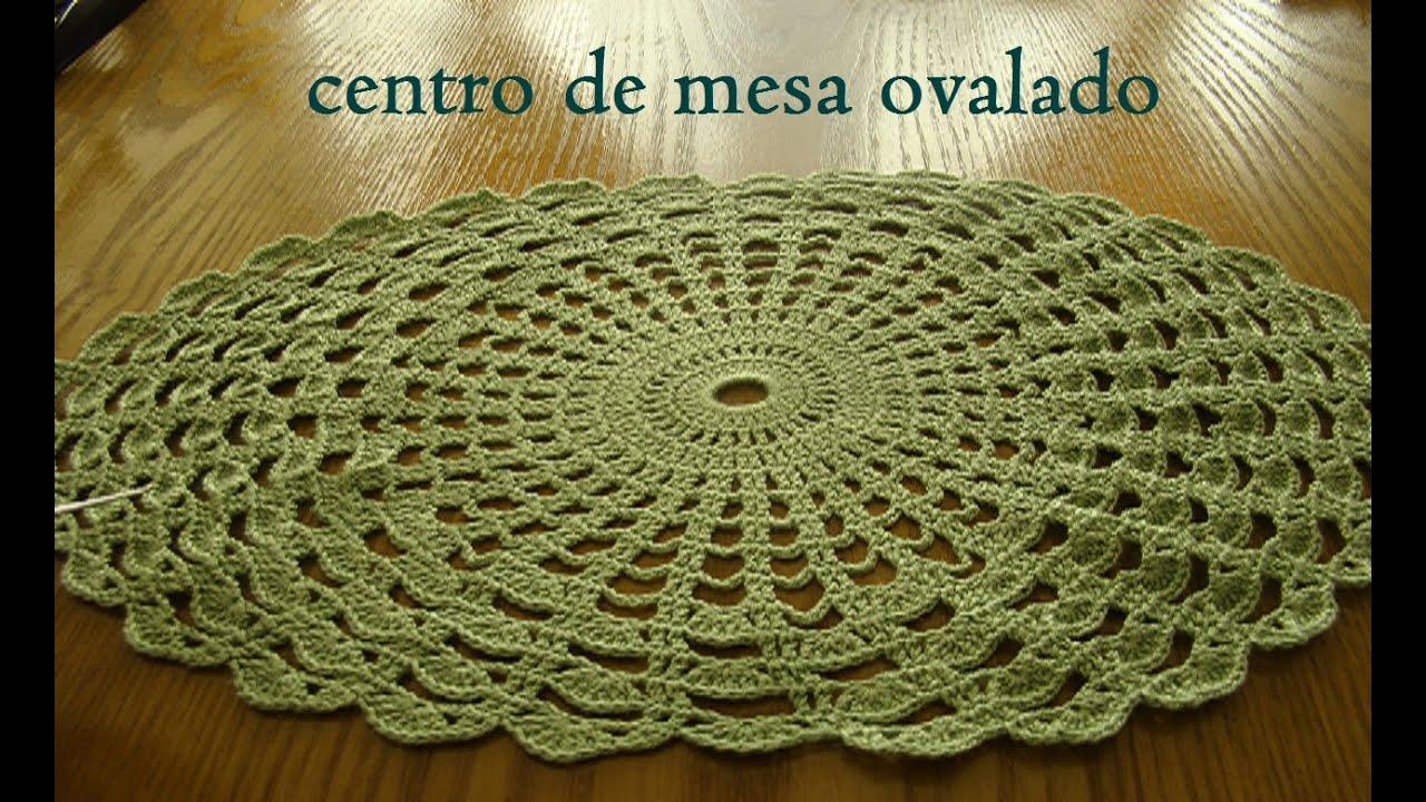 Centro de mesa ovalado tejido a crochet paso a paso for Centro de mesa a crochet