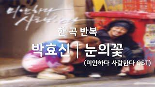 [광고없음┃한곡반복] 박효신 - 눈의꽃 (미안하다 사랑…