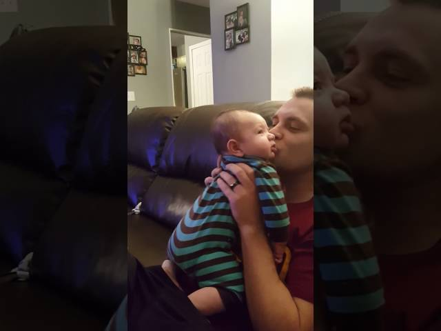 2 month old baby hates kisses funny
