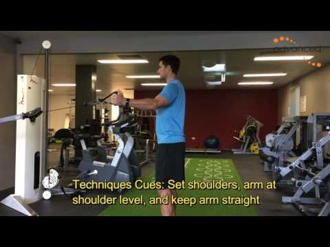 SHOULDER EXERCISES Standing Cable Horizontal Adduction
