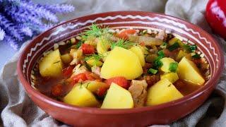 Фото Как приготовить овощное рагу РЕЦЕПТ с картошкой, кабачками и курицей