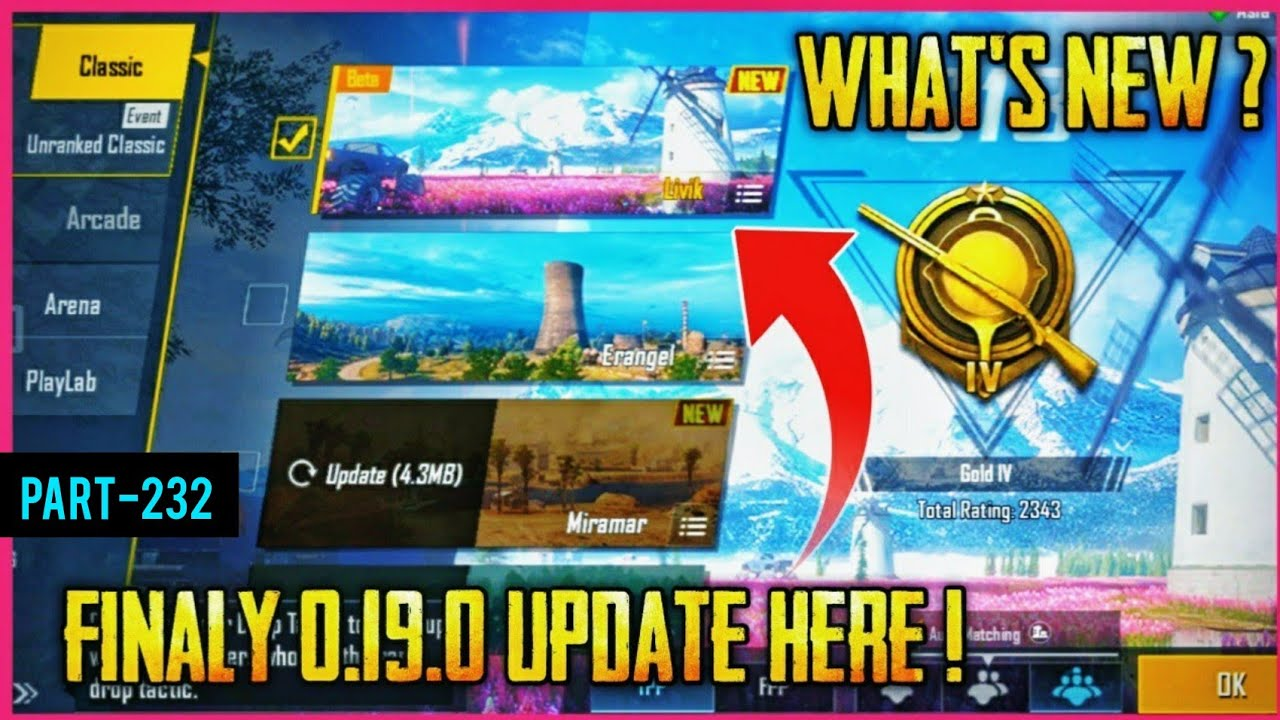 Pubg Mobile 0.19.0 Global Update Is Here | What's New In 0.19.0 Update | Pubg Mobile - AkhiLesh YT