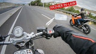 Dad's First Time RIDING A SUPERBIKE RC8 (HE HATES SPORTBIKES)