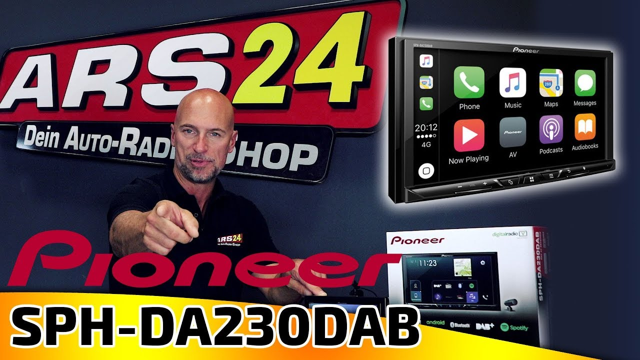 pioneer sph da230dab 2 din autoradio mit dab apple. Black Bedroom Furniture Sets. Home Design Ideas