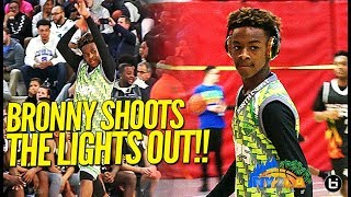 LeBron James Jr. LIGHTS IT UP w/ North Coast Blue Chip Squad in Exciting Final 4 Game!