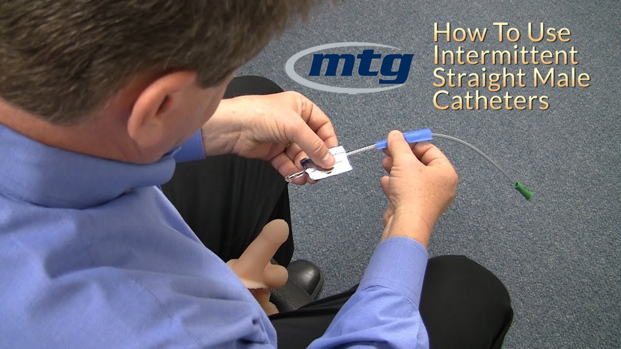 How To Use A Urinary Intermittent Straight Male Catheter