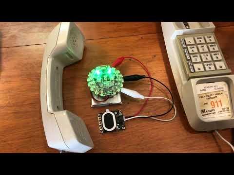 DTMF Phone Dialer Circuit Playground Express @adafruit @johnedgarpark @msmakecode