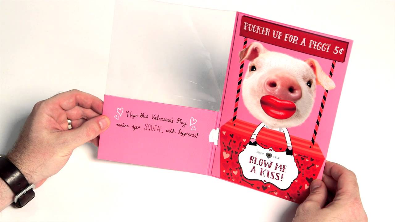 Blow Me A Kiss Tm Valentines Day Card By American Greetings