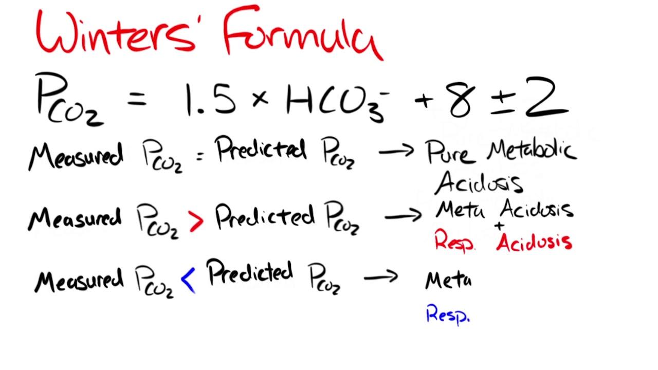winters 39 formula for metabolic acidosis explained youtube