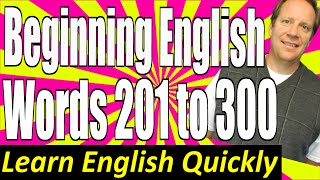 Basic English Speaking 3: Beginning English Vocabulary Lesson - Frequently Used Words