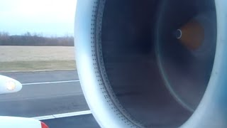 KLM Fokker 70 Full Taxi & Take Off (good engine sound)