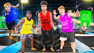Insane 2HYPE Trampoline Park Battle Royale!