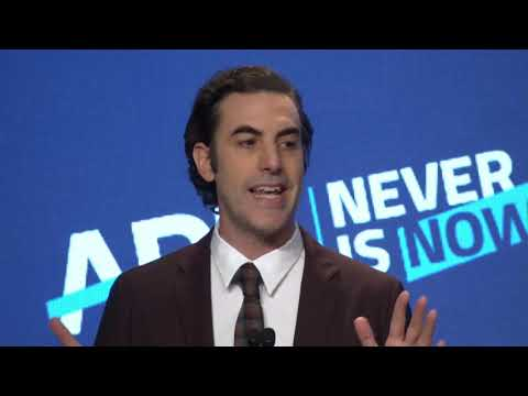 ADL International Leadership Award Presented to Sacha Baron Cohen at Never Is Now 2019