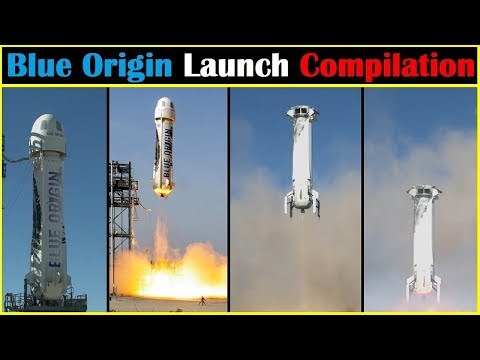 Blue Origin New Shepard Launch Compilation