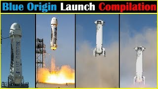 New Shepard Rocket Launch Compilation (Blue Origin) | Go To Space