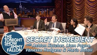 Secret Ingredient with Ashton Kutcher, Liam Payne, Vanessa Hudgens and Mario Batali by : The Tonight Show Starring Jimmy Fallon
