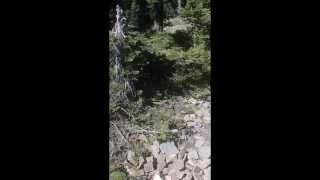 XR400 descending Black Peak on the ID/MT border