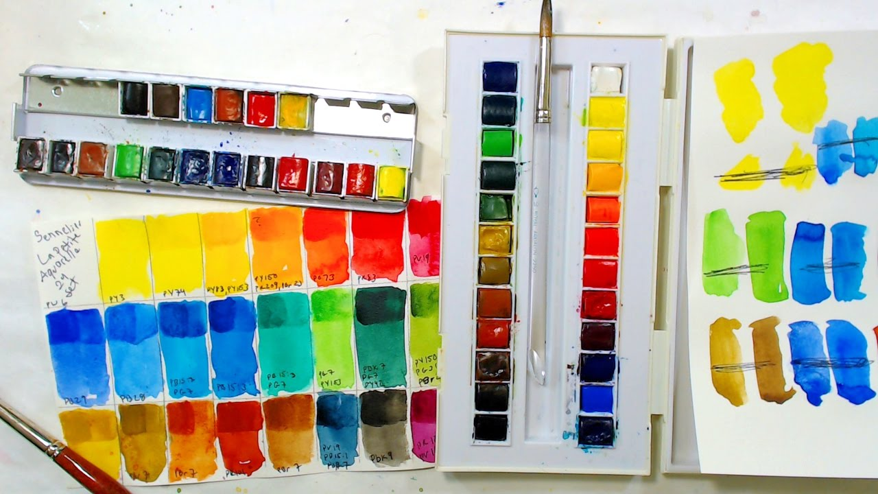 Sennelier La Petit Aquarelle Watercolor Set Review For Adult