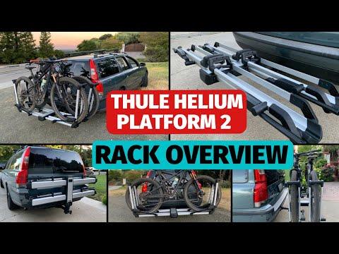 Thule Helium Platform 2 Hitch Bike Tray Rack Review Youtube