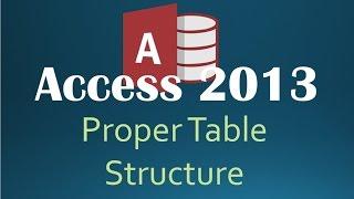 Access 2013 Best Practices - Proper Table Structures