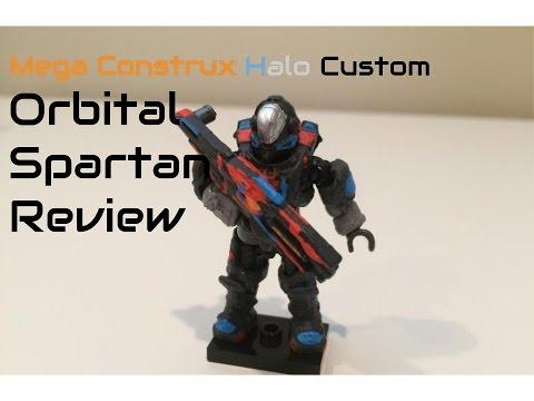 Mega Construx Custom Orbital Spartan Figure Review