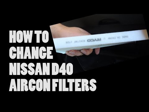 How To Change Air conditioner filters in Nissan D40 Navara / Frontier - Pathfinder - XTrail - Patrol